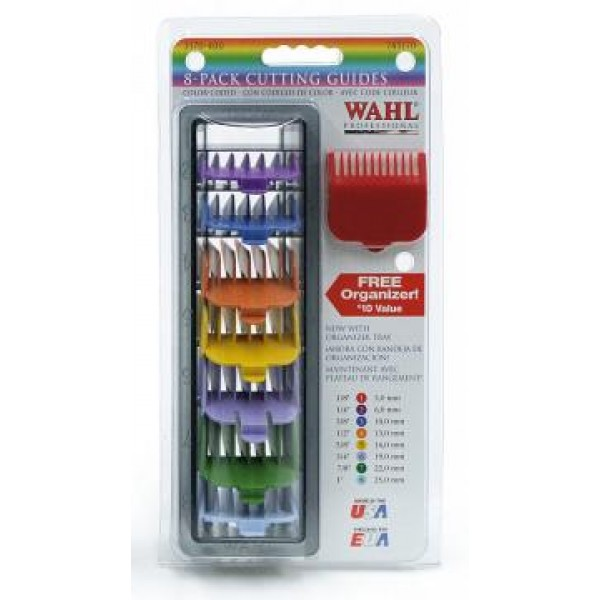 Wahl Professional Attachment Comb-Set - 8 St. Colored 4503-7171